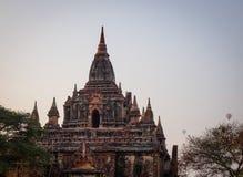 Top of the South Guni temple at sunrise in Bagan, Myanmar.  Stock Photo