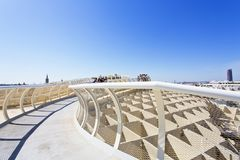 From the top of the Space Metropol Parasol, Setas de Sevilla, on Royalty Free Stock Image