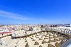 From the top of the Space Metropol Parasol, Setas de Sevilla, on Stock Image