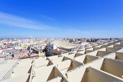 From the top of the Space Metropol Parasol, Setas de Sevilla, on Royalty Free Stock Photos
