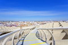 From the top of the Space Metropol Parasol, Setas de Sevilla, on Royalty Free Stock Photography