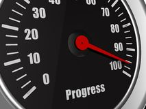 Top speed in gauge of progress Royalty Free Stock Photos