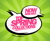 Top spring collections now available design. Stock Images