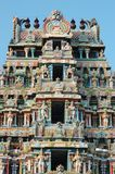 Top of Srirangam Temple in Tiruchirapalli Stock Photography