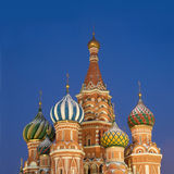 Top of St. Basil's Cathedral on Red Square Moscow Stock Photo
