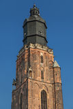 Top of the St Elizabeth Church Tower in Wroclaw. Poland Stock Photo