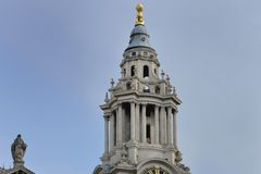Top of St Pauls Clock Tower Royalty Free Stock Photography