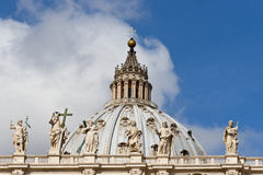 Top St. Peter Basilica , Vatican, Rome, Italy Stock Image