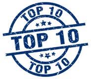 top 10 stamp vector illustration