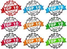 Top 10 stamp. sign. seal. Top 10 stamp set. sign. seal Stock Image