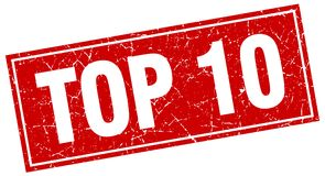 Top 10 stamp. Top 10 square grunge stamp. top 10 sign. top 10 Royalty Free Illustration