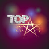 Top Star Icon. Abstract Icon template. Stock Photo