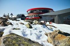 Top station Chopok. Known Slovak ski resort Jasna in Demanovska Valley in Liptov Royalty Free Stock Photo