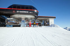 The top station of Kasereck chairlift on Pengelstein Royalty Free Stock Photos
