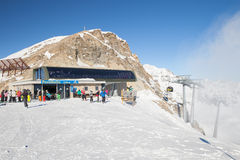 Top station of Pezidbahn cable car, Serfaus Stock Images