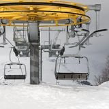 Top station of ropeway stock photos
