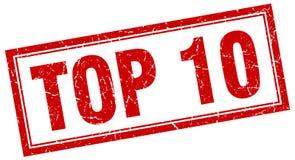 Top 10 Stempel lizenzfreie abbildung