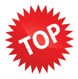 Top Sticker. Top Web 2.0 Red Sticker for Brand Productions Stock Images