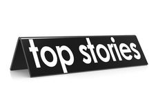Top stories in black Royalty Free Stock Photos