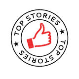 Top Stories rubber stamp Royalty Free Stock Image