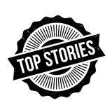 Top Stories rubber stamp Royalty Free Stock Photo