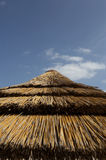 Top of straw parasol Royalty Free Stock Photo
