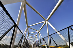 The top structure of pedestrian overpass Royalty Free Stock Photo