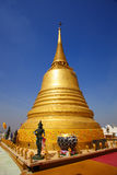 Top stupa Golden mount temple Stock Photos