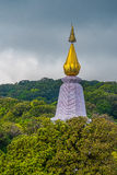Top of stupa. Top of pagoda at 'Doi Inthanon' Chaing-Mai, THAILAND Royalty Free Stock Photography