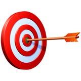 Vector target with arrow Stock Photo