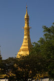 Top of Sule Pagoda, Yangon, Burma. Stock Photo