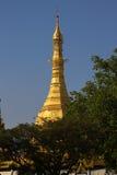 Top of Sule Pagoda, Yangon, Burma. Stock Photo