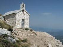 On the top of Sv. Jure. Sv. Jure is the highest summit of Biokovo mountains in Croatia Royalty Free Stock Photography
