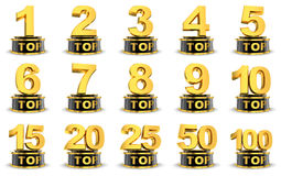 Top symbols Royalty Free Stock Photos