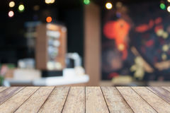Top table with Bar Cafe Restaurant blurred background Stock Photography