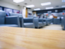 Top of table with blurred sofa waiting room office space Stock Photos
