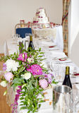 Top Table at a wedding Stock Photography