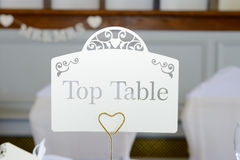 Top table at wedding Stock Photography