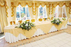 Top Table at wedding reception Stock Photography