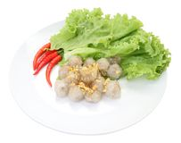 Top of tapioca balls with pork filling Stock Photography