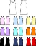 Top tee tank collection Stock Photos