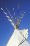 Top of a teepee in Taos, NM stock images