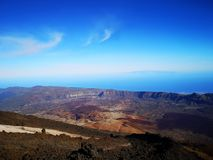 From the top of teide royalty free stock images