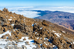 Top of Teide on Tenerife Stock Photo