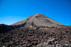 Top of Teide volcano and  lava landscape on Tenerife, Spain. Royalty Free Stock Images