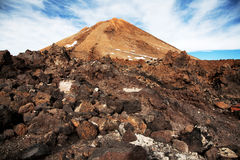 Top of Teide volcano mountain stock images