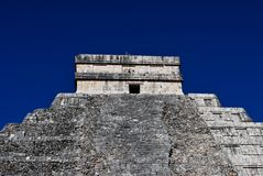 Top of Temple at Chichen Itza Royalty Free Stock Image