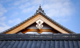 Top of the temple in Kyoto, Japan Stock Images