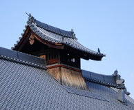Top of the temple in Osaka, Japan Royalty Free Stock Photo