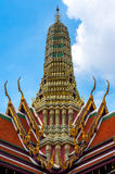Top of temple at Wat Phra Kaew. Bangkok, Thailand Stock Photography